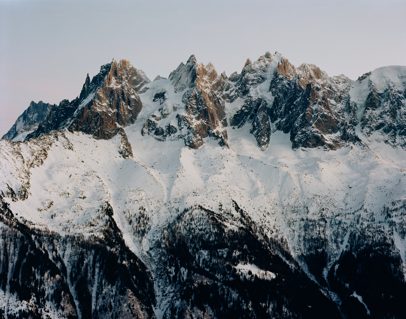 Mont-Blanc-Massif in Chamonix France Large-Format photograph